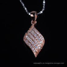 Collar de joyería de plata chapado en oro rosa de moda forma irregular