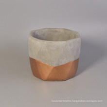 Copper Bottom Antique Style Recycled Big Size Concrete Candle Holders Empty