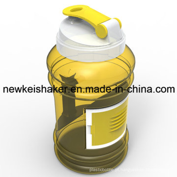 Portable 2.2 / 2.5L PETG Plastic Sport Water Bottle with Container