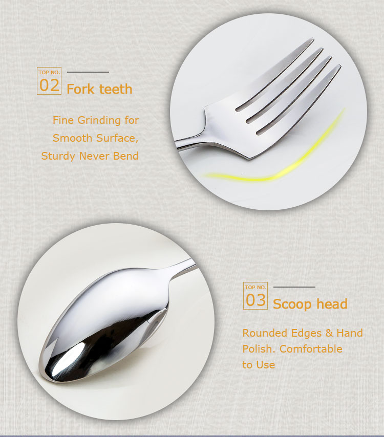 Stainless Steel Hotel 24pcs Cutlery Set