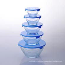 Imperial Home 10 Stück stapelbare Aufbewahrungsschale aus Glas