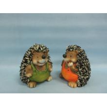 Hedgehog forma de artesanía de cerámica (LOE2537-C11)