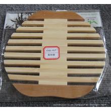 (BC-M1006) Estera de bambú natural hecha a mano del aislamiento del calor de la forma de la pera