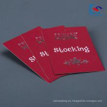 Fábrica de papel especial de encargo barata colgar la etiqueta al por mayor