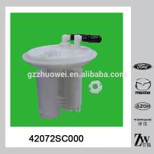 Auto filtro de combustible de plástico para Su-baru 2.0 42072-SC000