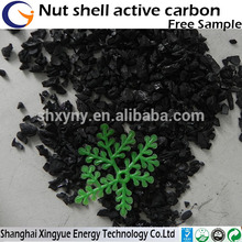скорлупа ореха гранулированный активированный 8x30mesh низким активированного углерода цена угля за тонну