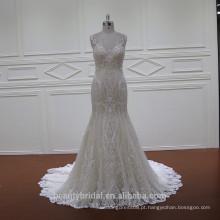 XF1118 mostra de moda champanhe mais vestido de casamento tamanho vestido longo