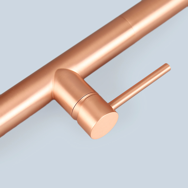 Rose Gold Stainless Steel Swivel Kitchen Faucet 5