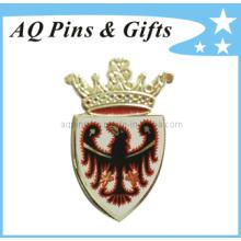 Imitação duro esmalte lapela pin badge com crachá de impressão (badge-041)