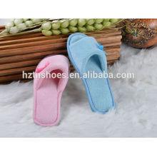 Automne / hiver antidérapante intérieur chausson ouvert toe chambre chaussures femmes glisser sur les appartements