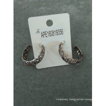 Retro Simple with Engraved Lines of Earrings