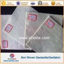 Aguja de fibra corta Puntera de poliéster no tejido Geotextil