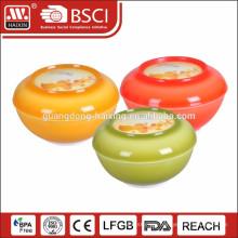 plastic salad bowl with lid 0.35L 0.82L 1L