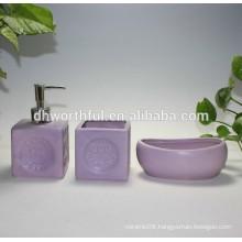 2016 Hot sale 3 pcs bathroom set ceramic bath accessory