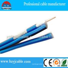 Rg 58 Cable de CCTV Cable coaxial Braid Shield Cable de PVC
