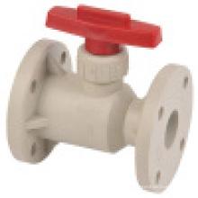 Vanne à bille à bride à gazon / valve à bille thermoplastique
