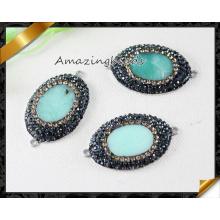 Оптовые ювелирные изделия способа ожерелья шариков нефрита кристаллические привесные (EF0107)