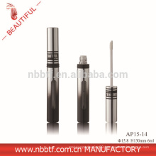 2015 New Deisgn Aluminum Silver With Window Round Lipgloss tube