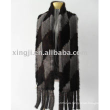 Wholesale bufanda de punto de piel de visón