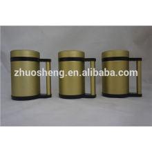 best selling item wholesale double wall stainless steel ceramic coffee mug