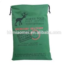 Wholesale 2017 Günstige Baumwolle Wiederverwendbare Canvas Weihnachten Tasche Für Werbegeschenke