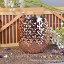 560ml Pineapple Design Copper Metal Bronze Candle Container
