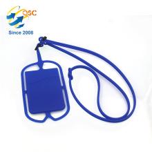 Hot Sale Tool Lanyard Zubehör mit Kartenfach Silikon-Telefonhalter