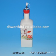 High-quality ceramic oil bottle with monkey decal printing
