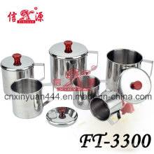 Stainless Steel Water Mug with Cover Set (FT-3300)