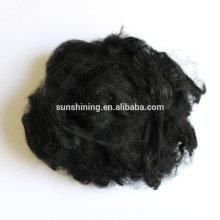 100% polyester et fibres discontinues de polyester
