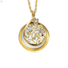 Silver Flower Long Chain 2x Magnifying Glass Pendant Magnifier Necklace