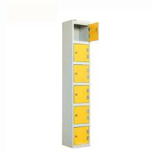 Hot Sale Steel Well-Knit 6 Door Locker Vertical Staff Cabinet