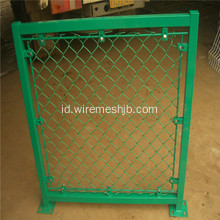 Hot Dipped Galvanis Lapangan Basket Chain Link Pagar