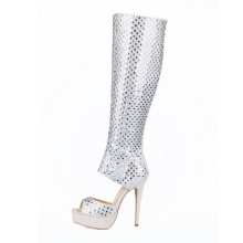 New Collection High Heel Ladies Shoes with Diamond (HS17-074)