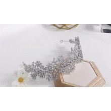Venta caliente elegante diadema de flores de alta calidad boda tiaras de circonita nupcial con tiaras de circonita cúbica