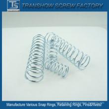 Molas galvanizadas do aço 65mn da compressão do fio