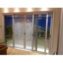 New Design Double Tempered Glass Aluminium Sliding Door