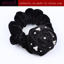Cabello negro Scrunchie para las mujeres