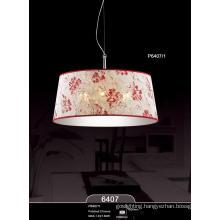Flower Pattern Fabric Home Hotel Bar Resort Villa Pendant Lamp (P6407-1)