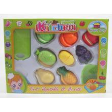 Kitchen Play Set zum Schneiden von Essen & Gemüse Spielzeug für Kinder