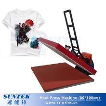 Machine de transfert de presse de la chaleur de T-shirt de vente chaude de 80 * 100