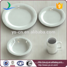 Productos de calidad China Dinnerware Cena fina de porcelana blanca Set