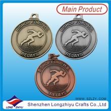 Anitque Gold Silber Bronze Medaillen Sport Metall Medaillen Anhänger