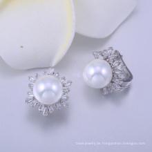 silberne Ohrringperlmutt-Ohrringe der Damen extravagante Europa
