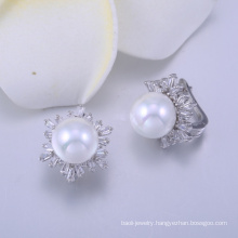 ladies fancy accessories europe silver earring mother of pearl earrings