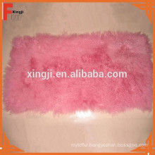 dyed Mongolian lamb fur throw