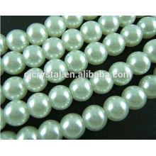 Perle en verre pour boucles d'oreilles, collier de perles