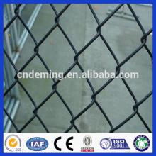 Cadeia de cerca de cadeia de fábrica / fio de cadeia cerca de cerca de pvc preto
