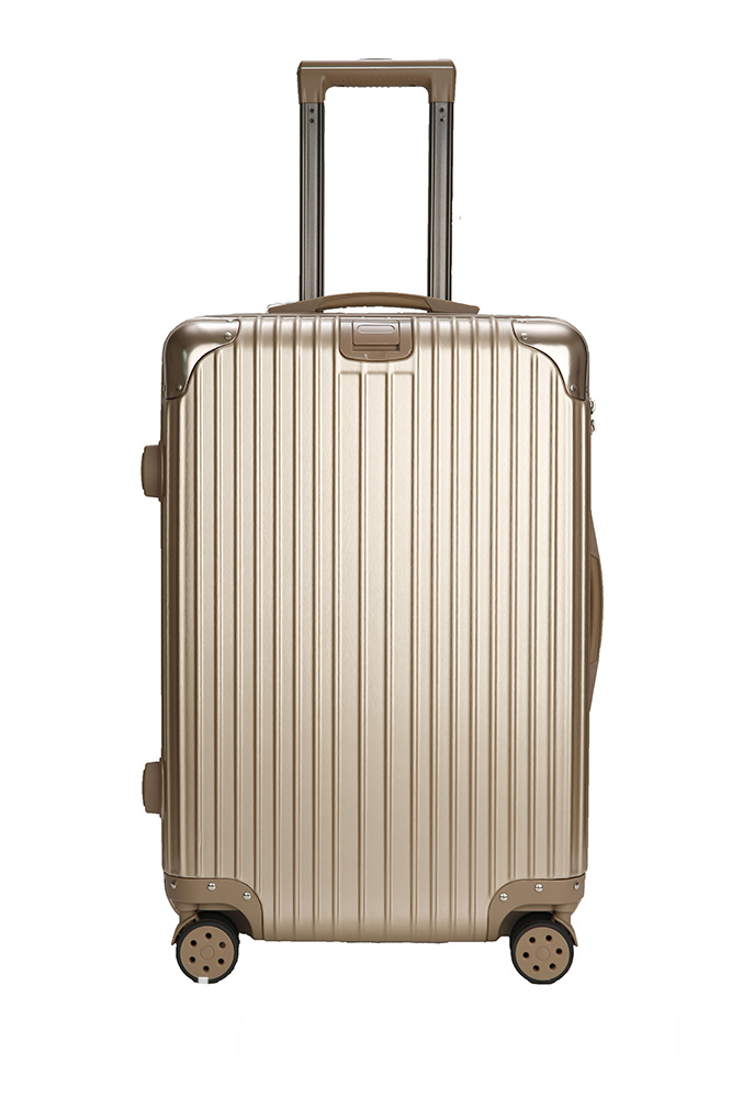 Anti-collision Champagne Luggage Trolley