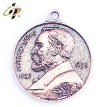 Antique bronze zinc alloy 3D custom metal charm and pendant
